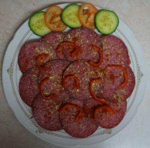 Belegtes Brot mit Salami